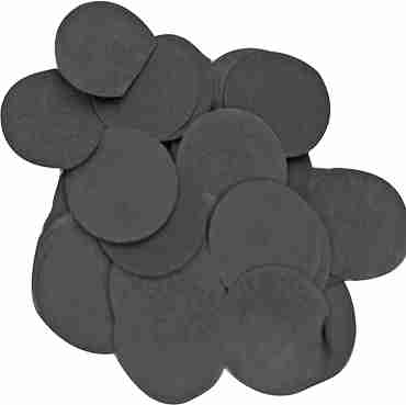 Black Paper Round Confetti (Flame Retardant) 25mm 100g