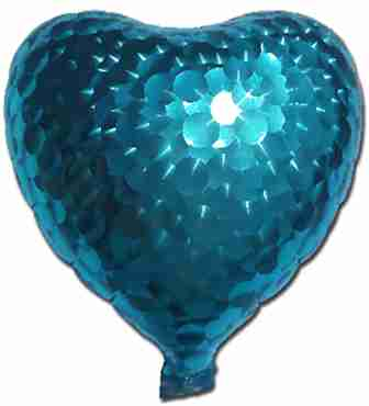 Blue Jewelry Holographic Foil Heart 5in/12.5cm