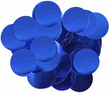 Blue Metallic Round Foil Confetti 25mm 50g