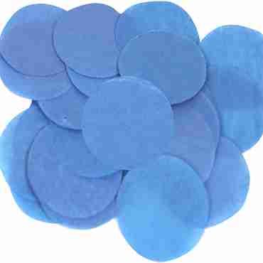 Blue Paper Round Confetti (Flame Retardant) 15mm 14g