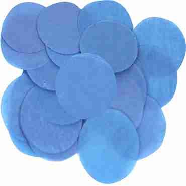 Blue Paper Round Confetti (Flame Retardant) 25mm 14g