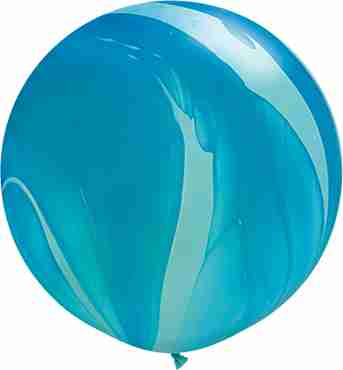 Blue Rainbow SuperAgate Latex Round 30in/75cm