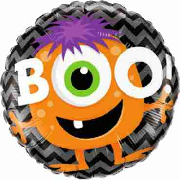 Boo! Monster Chevron Foil Round 18in/45cm