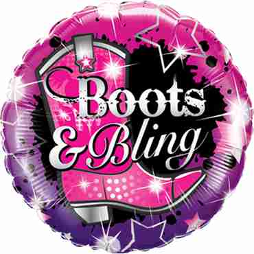 boots and bling foil round 18in/45cm