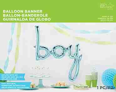 Boy Script Pastel Blue 45in/114cm