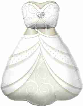 Bride's Wedding Dress Foil Shape 38in/97cm
