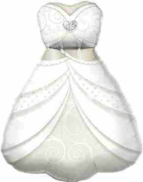 Bride's Wedding Dress Foil Shape 38in/97cm