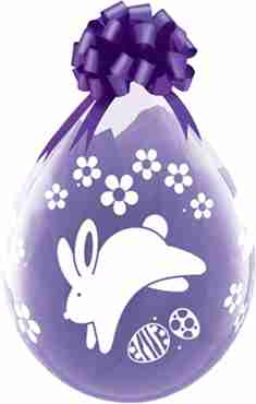 Bunnies and Daisies Crystal Diamond Clear (Transparent) Latex Round 18in/45cm