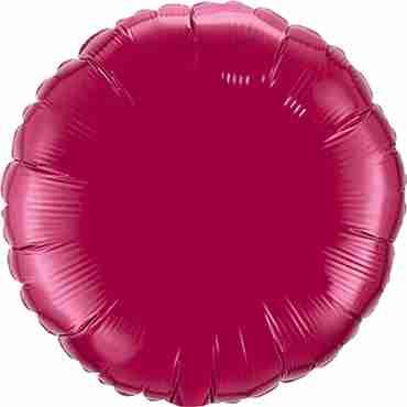 Burgundy Foil Round 18in/45cm