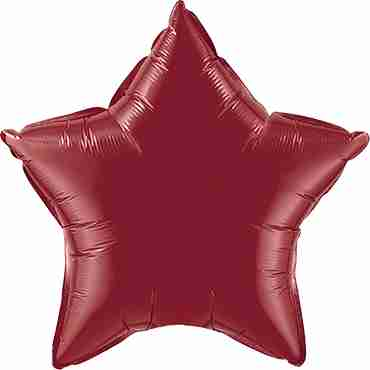 Burgundy Foil Star 20in/50cm