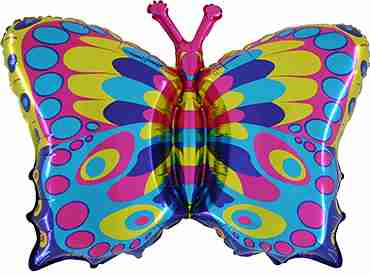 Butterfly Foil Shape 34in/85cm