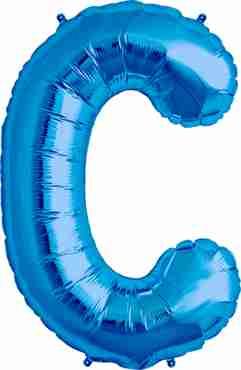 C Blue Foil Letter 16in/40cm
