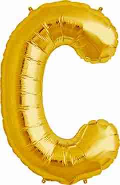 C Gold Foil Letter 16in/40cm