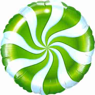 Candy Swirl Green Foil Round 9in/22.5cm
