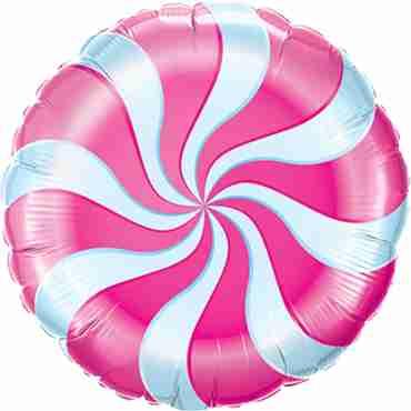 Candy Swirl Magenta Foil Round 18in/45cm