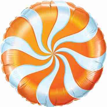 Candy Swirl Orange Foil Round 18in/45cm