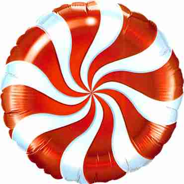 Candy Swirl Red Foil Round 9in/22.5cm