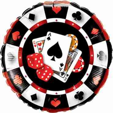 Casino $ Foil Round 18in/45cm