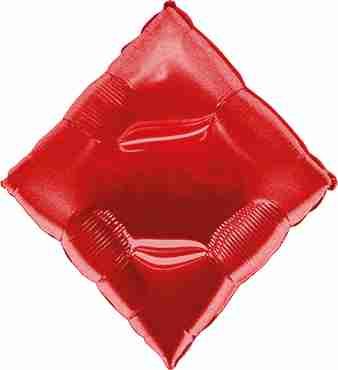 Casino Diamond Red Foil Shape 30in/76cm