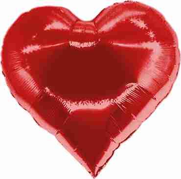 Casino Heart Red Foil Shape 30in/76cm