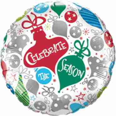 Celebrate The Season Ornaments Foil Round 18in/45cm