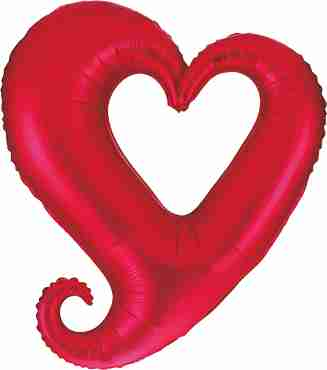 Chain of Hearts Red Foil Shape 37in/94cm