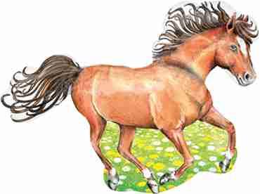 Charming Horse Vendor Foil Shape 32in/79cm x 24in/60cm