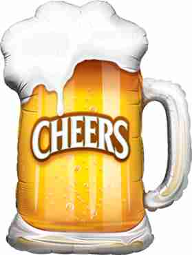 Cheers! Beer Mug Foil Shape 35in/89cm