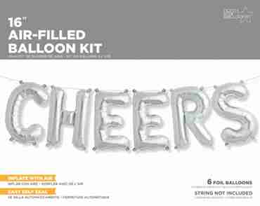 cheers kit silver foil letters 16in/40cm