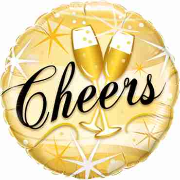 Cheers Starbursts Foil Round 18in/45cm