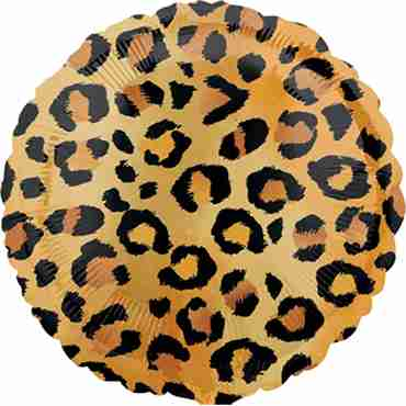Cheetah Foil Round 18in/45cm