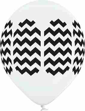 Chevron Pastel White Latex Round 12in/30cm