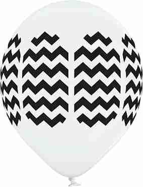 Chevron Pastel White Latex Round 12in/30cm