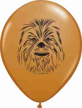 Chewbacca Face Fashion Mocha Brown Latex Round 5in/12.5cm