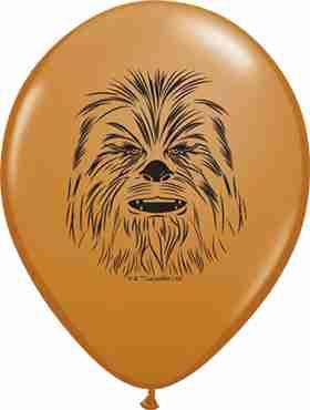 Chewbacca Face Fashion Mocha Brown Latex Round 5in/12.5cm