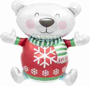 Christmas Bear Foil Shape 43in/109cm