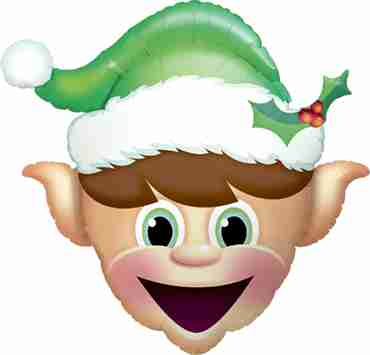 Christmas Elf Foil Shape 35in/89cm