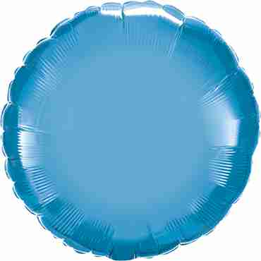 Chrome Blue Foil Round 18in/45cm