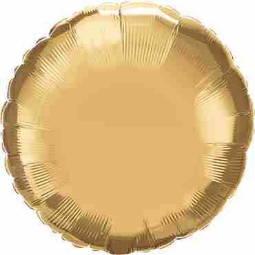Chrome Gold Foil Round 18in/45cm