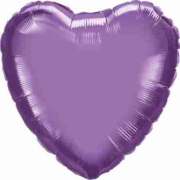 Chrome Purple Foil Heart 18in/45cm
