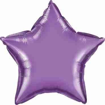Chrome Purple Foil Star 20in/50cm