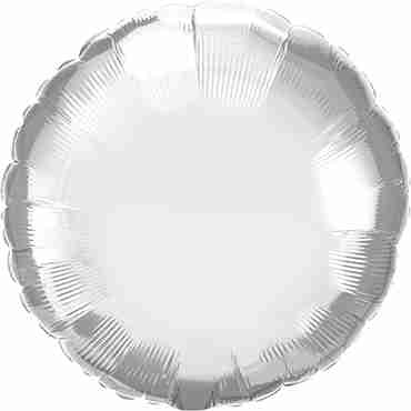 Chrome Silver Foil Round 18in/45cm