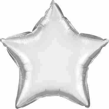 Chrome Silver Foil Star 20in/50cm