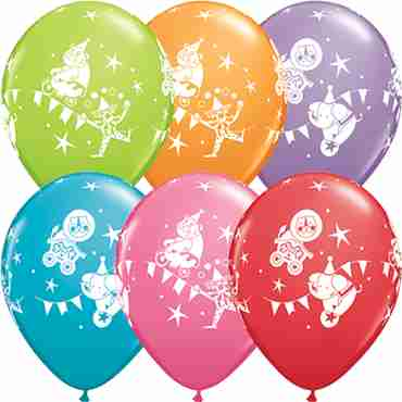 Circus Parade Festive Assortment Latex Round 11in/27.5cm