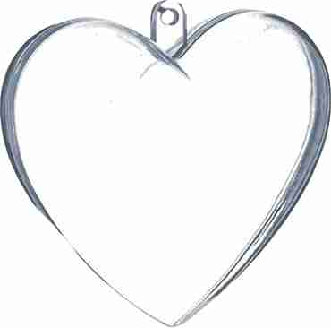 Clear Small Heart Weight 10g fillable