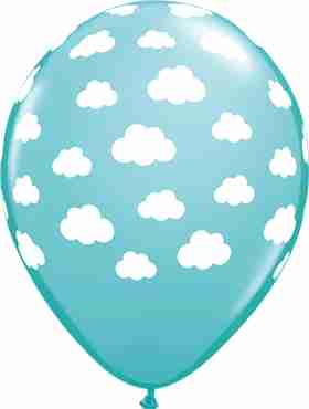 clouds fashion caribbean blue latex round 11in/27.5cm