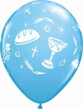 Communion Elements Standard Pale Blue Latex Round 11in/27.5cm