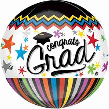 Congrats Grad Orbz 15in/38cm x 16in/40cm