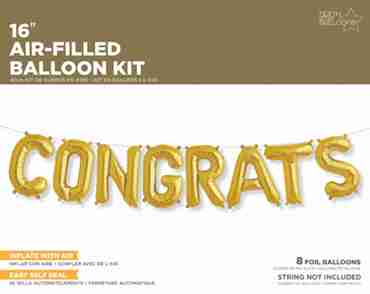 Congrats Kit Gold Foil Letters 16in/40cm