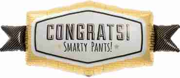 congrats smarty pants foil shape 33in/84cm